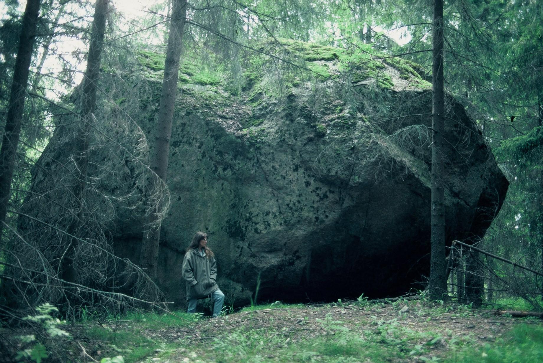 Luonnonmuistomerkki, siirtolohkare, Vaanila, kuva Lohjan ympäristönsuojelu.