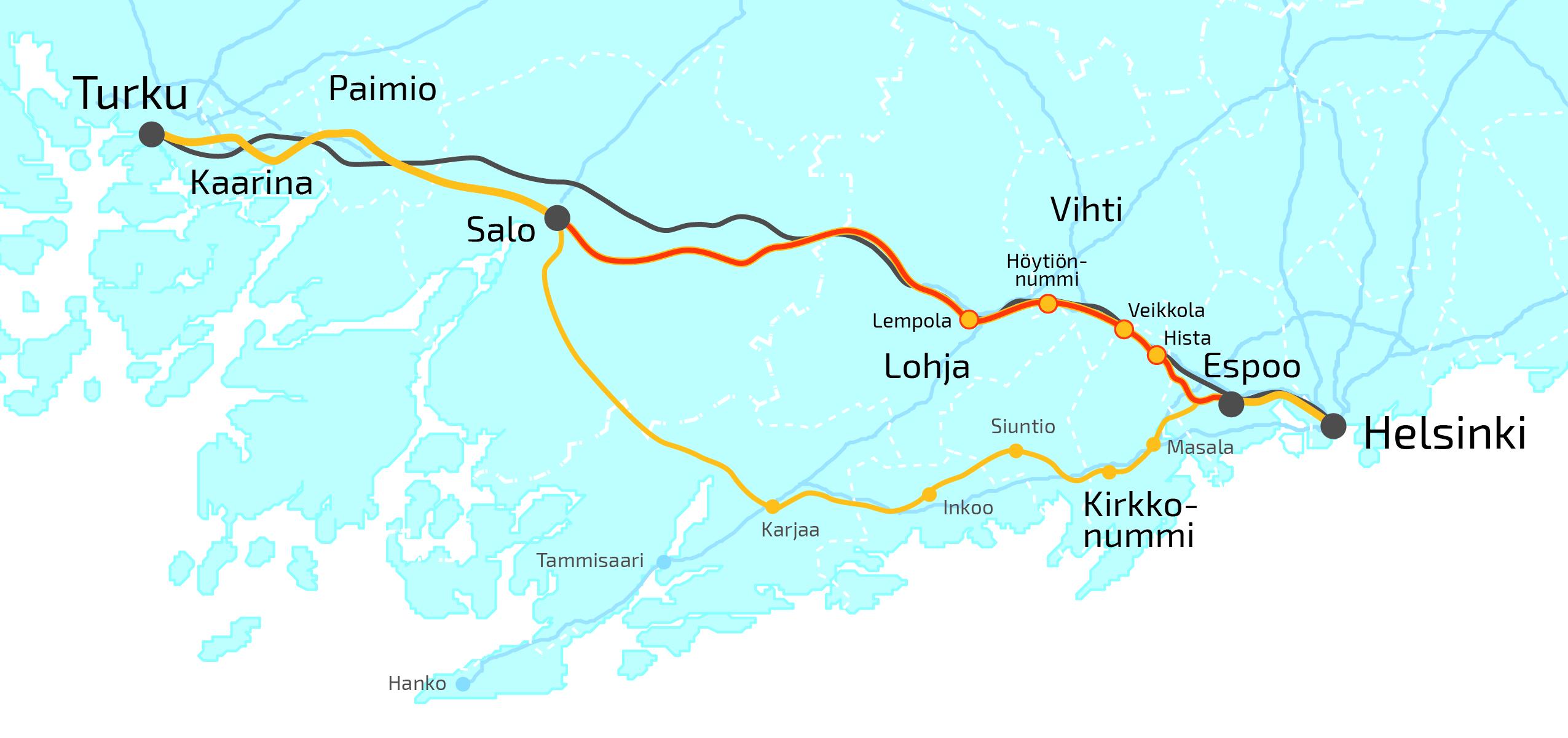 Tervetuloa Espoo Salo Oikoradan Yleissuunnittelun
